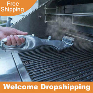 Grill-Brush Charcoal Cleaner Gas-Accessories Cooking-Tool Barbecue-Grill Steam for