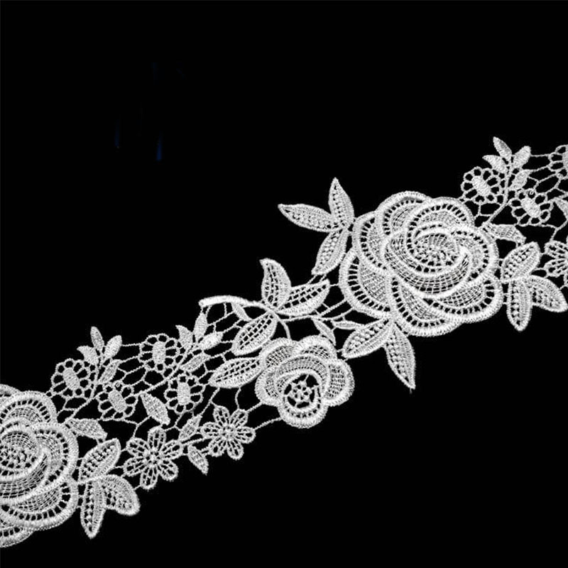 100 Yards 110MM Embroidered Lace Fabric DIY Skirt Hem Dance Costumes Garment Accessories Lace Trim Sewing Craft