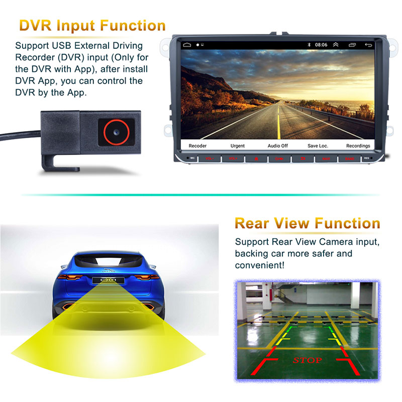 Android 9'' VW GPS 2 din 6