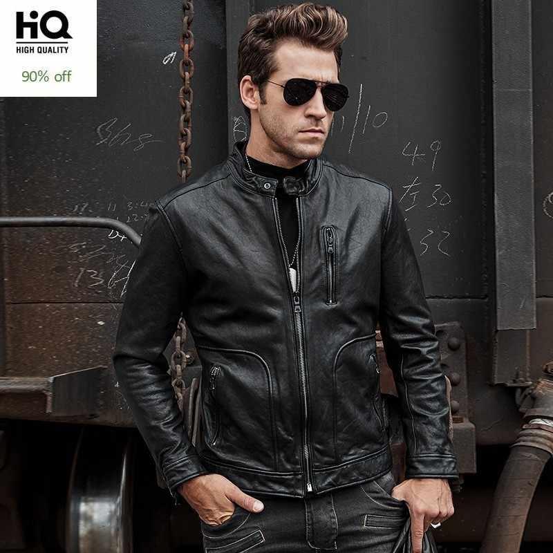 Italian Designer Motorcycle Mens Genuine Leather Jacket Luxury Tanning Sheepskin Short Coat Slim Fit Handsome Man Biker Jacket Aliexpress
