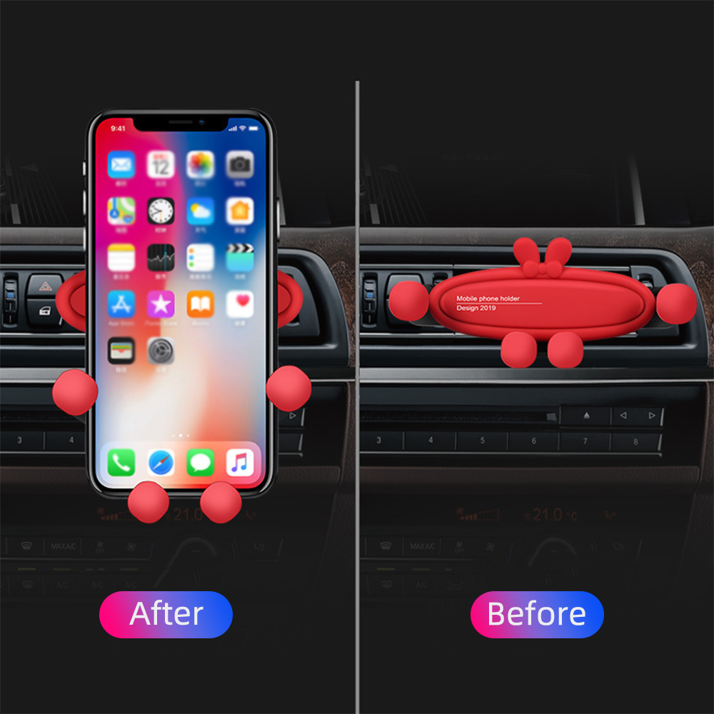Red Car Air Vent Mount Mobile Phone Holder 360 Degree Rotatable Stable Bracket Car Stand Mount Support GPS