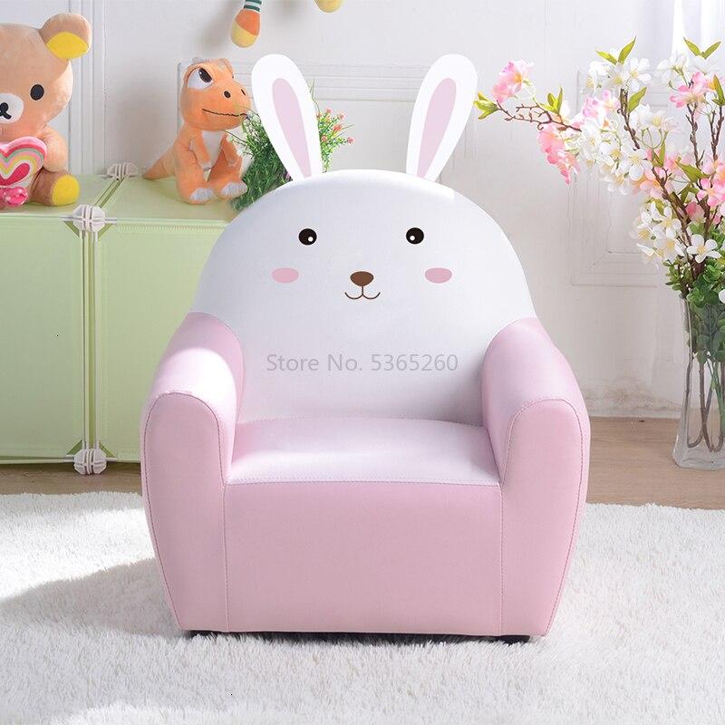 Children Sofa Cartoon Girl Princess  Sofa Chair Lovely  Single Person Small Kids Sofa Bean Bag Zitzak Baby Furniture Pink