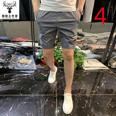 Tide Brand 2019 Summer New White Shorts Male Korean Version Of The Slim Five Pants Fashion Men