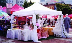 Складная палатка, 2,5 х2, 5 м, садовая палатка-шатер, вечерние свадебные мероприятия, ярмарка, фестиваль, квитанция, навес, павильон, навес