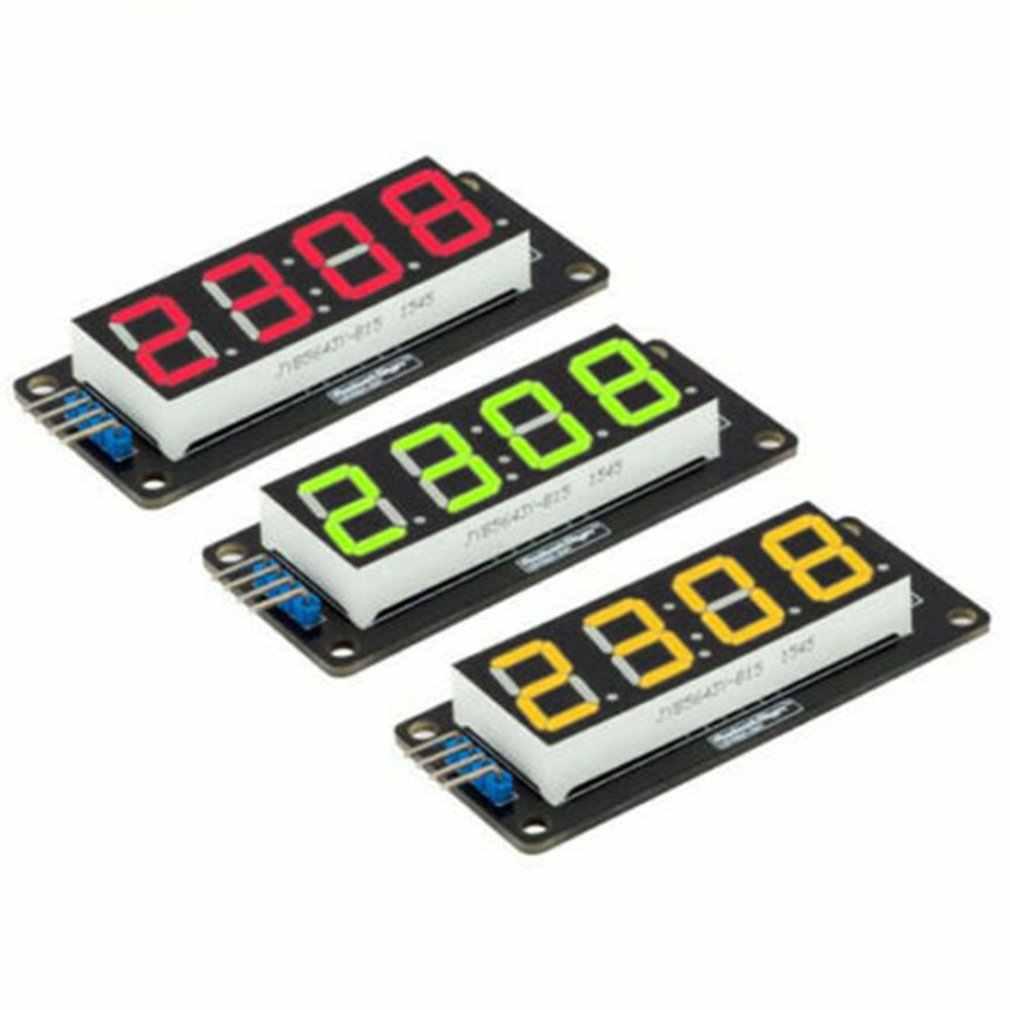 1 Pcs TM1637 4 Bit Digital LED Tampilan Modul UNTUK ARDUINO 7 Segmen 0.36 Inci Jam Merah Anoda Tabung Empat serial Driver Papan Pack