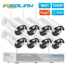 Irisolink Wireless 2MP CCTV System 8CH NVR Audio Record Outdoor P2P IP Security Camera Tuya Zigbee Wifi video surveillance Kit