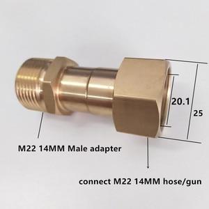 Image 3 - HNYRI Washer Adapter Swivel M22 Female with M22 14MM Male Brass Thread Connect to Pressure Hose or Foam Gun Washing Pipe Machine
