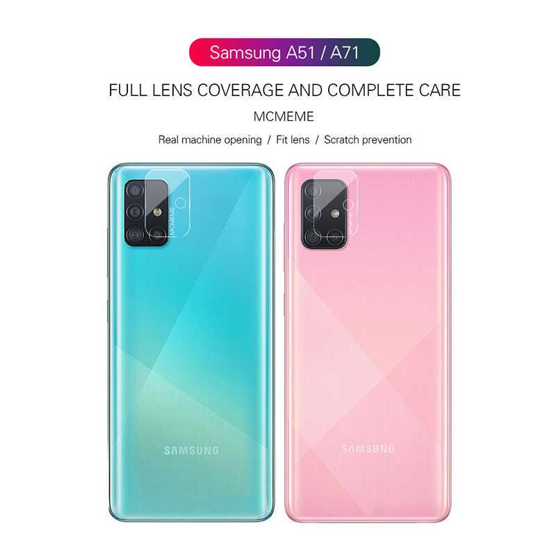 2-in-1 Macchina Fotografica di Protezione in Vetro per Samsung Galaxy A71 A51 2019 a 51 71 51a 71a A515F A715F protezione Dello Schermo in Vetro Temperato Film