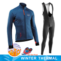 NW 2020 kış bisiklet giyim erkekler Jersey termal polar takım elbise Northwave açık bisiklet MTB giyim Bib pantolon sıcak seti jel pad