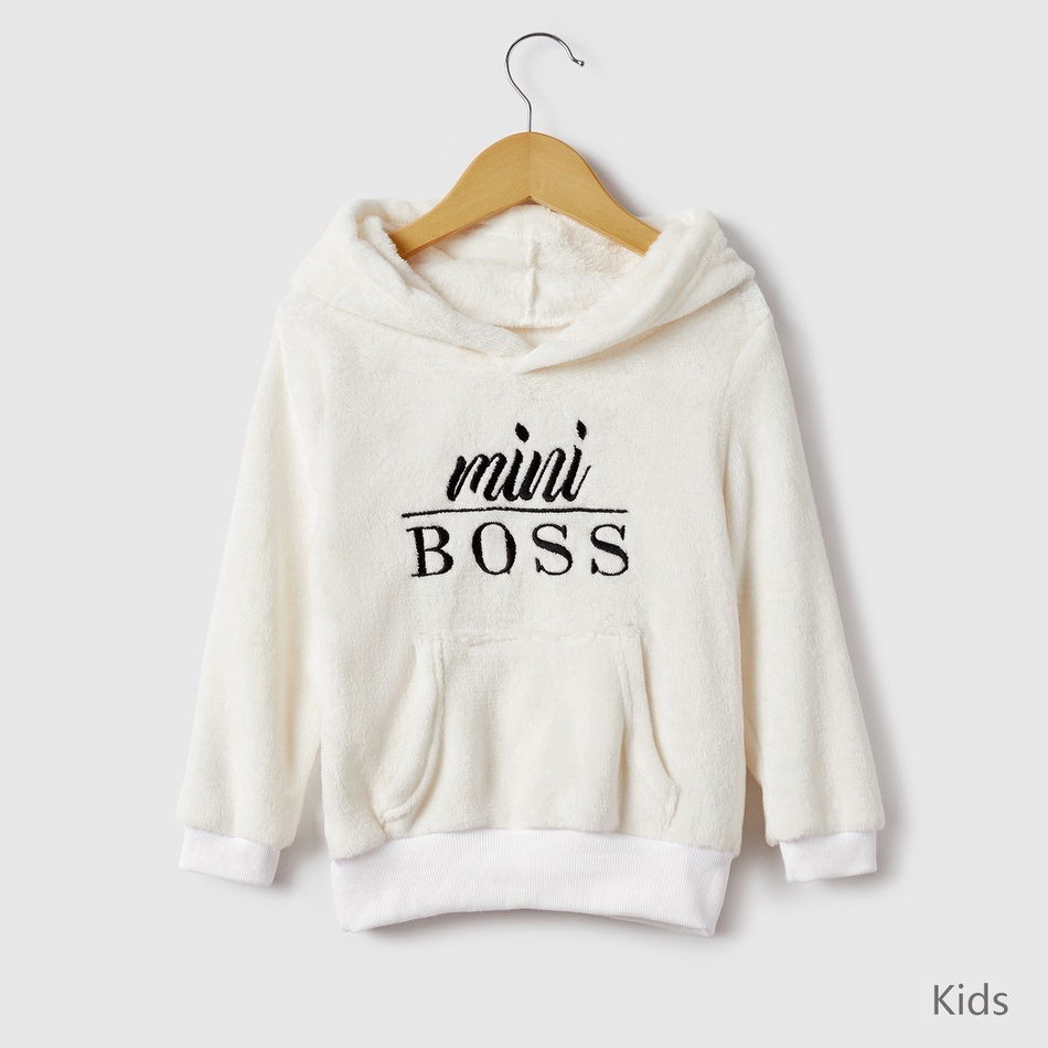 Baby Boys Girls Mini Boss Print Pullover Sweater T-Shirt Casual Sweatshirt Fall Winter Outfit Outdoor Active Set
