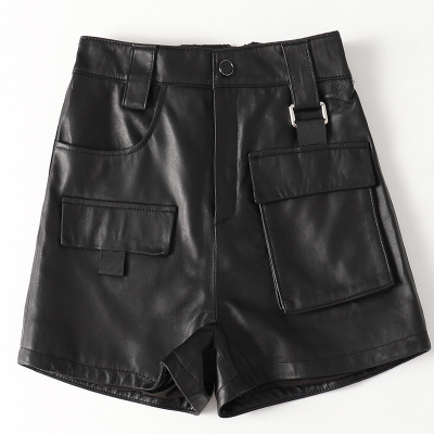 2019 New Fashion Genuine Real Sheep Leather Shorts H39