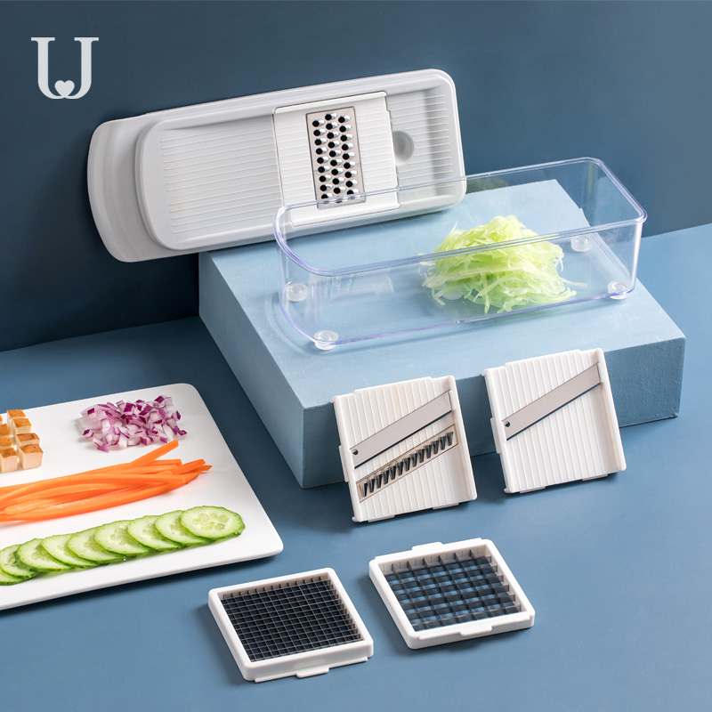 Xiaomi Jordan&Judy 6 In 1 Multi-function Vegetable Slicer Cutter Fruit Peeler Manual Kitchen Vegetable Chopper