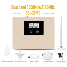 Nieuwe Collectie! Lcd Display 2G 3G 4G Mobiele Signaalversterker Dual Band 1800/2100Mhz Cellulaire Signaal Mobiele telefoon Repeater Versterker Kit