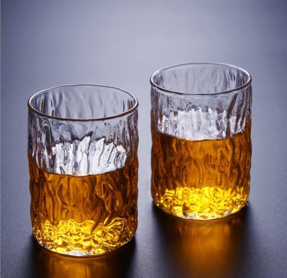 Hammer Glass-Cup Tea Custom Japanese High-Borosilicate 2pcs/Set Home-Tree-Pattern