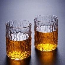2 шт./компл. японский Молот стеклянная чашка высокая боросиликатная термостойкая чашка высокая стеклянная простая чашка домашнее Дерево Узор чай на заказ
