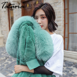 Image 5 - Tataria Womens Down Jacket Sustans Winter Womens Parks Women Winter Coats with Fur Collar Female Thicken Long Parks Jacket