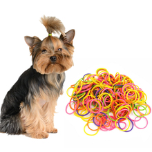 170PCs High Elasticity Pet Hair Rubber Band Dog Cat Hair Accessories Colorful DIY Hair Bows Grooming Hairpin Dog Accessories