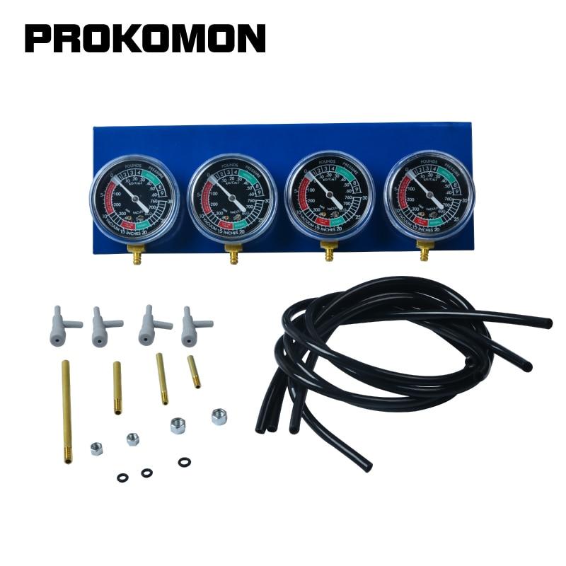 4 Cylinder Carburetor Synchronizer Set Vacuum Balancer Gauge For Motorcycle Motorbike Carbs