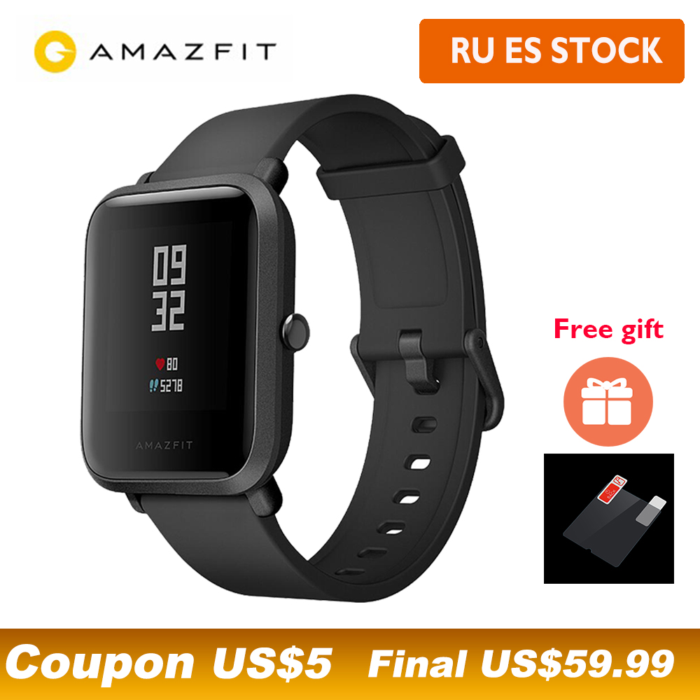 Internationalen Version Huami Amazfit Bip Beep IP68 GPS Smart Uhr 45 Tage Standby Herz rate gesundheit tracker Smartwatch-in Smart Watches aus Verbraucherelektronik bei AliExpress - 11.11_Doppel-11Tag der Singles 1