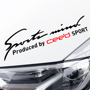 32*9CM Sport Mind Car Styling On Car Lamp Eyebrow Automobile Car Sticker For Kia Ceed Exterior Auto Body Decor Vinyl Accessories
