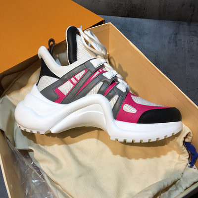 YS 920042 Platform 6CM Sneakers Geen Logo Sport Running Casual Schoenen Echte Koe Lederen Schapenvacht Binnenzool vrouwen Vulcaniseer schoenen - 4