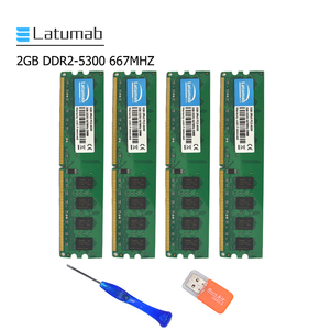 Latumab 2 ГБ 4 ГБ DDR2 667 МГц PC2 5300 настольная Память DIMM Память RAM 240 шпильки 1,8 в Настольный ПК модуль памяти ram