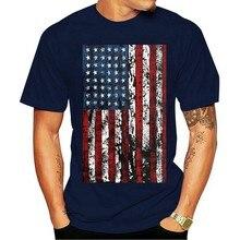 2021 moda algodão t-camisa americana do vintage t-americana patriotismo eua bandeira masculina t s-3xl