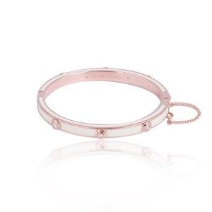 Image 2 - Европейские и американские ювелирные изделия, оптовая продажа, эмалированная цветная глазурованная Мода, простая вставка с заклепками, разноцветный браслет для девочек