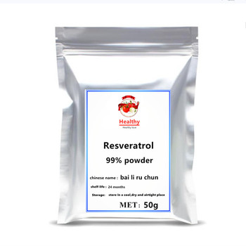 Hot sale 99% pure Resveratrol Powder Antioxidant Supplement body resveratrol extract anti-cancer beauty skin nmn free shipping 2020 hot sale nicotinamide mononucleotide nmn powder extract nicotinamide riboside 1pc festival skin body glitter free shipping