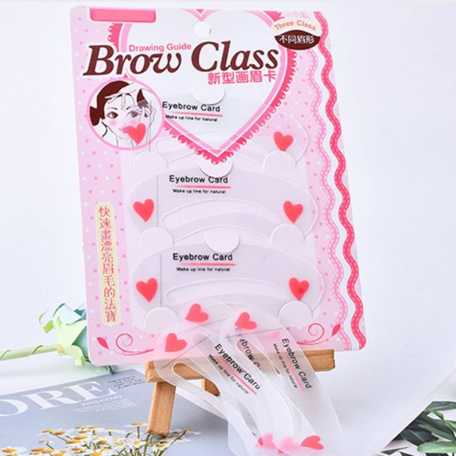 3Pcs/set Thrush Card Threading Word Eyebrow Makeup Tools Threading Artifact Thrush Card Eyebrows Mold