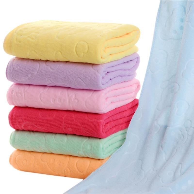 Bear Print Blanket For Newborn Soft Polyester Blankets Baby Boy Girl Sleeping Blanket Bedding Bath Towel