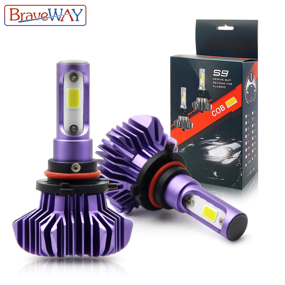 BraveWay H1 H3 H4 H7 H11 LED Car Light Ice Lamp For Atuo Diode Lamps For Cars H4 Led Bulb For Motocycle H1 H7 9006 HB4 LED HB3