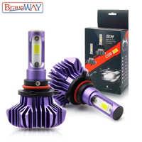 Braveway h1 h3 h4 h7 h11 conduziu a luz do carro lâmpada de gelo para o diodo atuo lâmpadas para carros h4 lâmpada led para motocycle h1 h7 9006 hb4 led hb3
