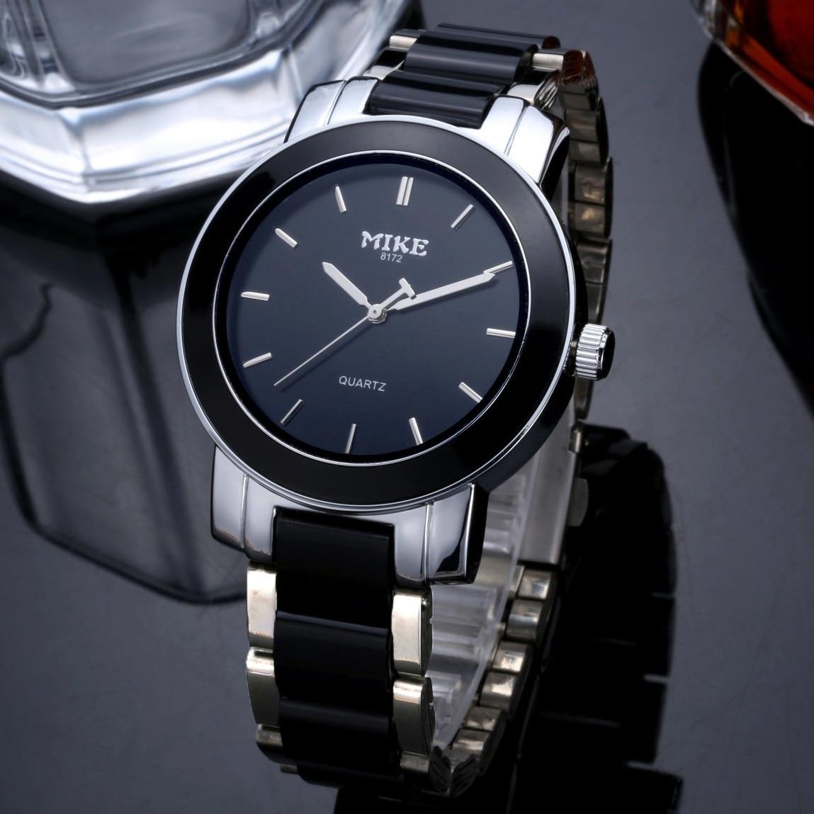 MIKE Quartz Watch Men Ceramic Watches Top Luxury Brand Watch Fashion Waterproof Clock Dress Wrist Watches Relogio Masculino