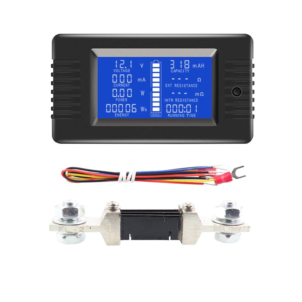 9 в 1 комбинированный цифровой измеритель мощности и емкости энергии SOC Вольтметр Амперметр 0-200 в 0-а для солнечных батарей