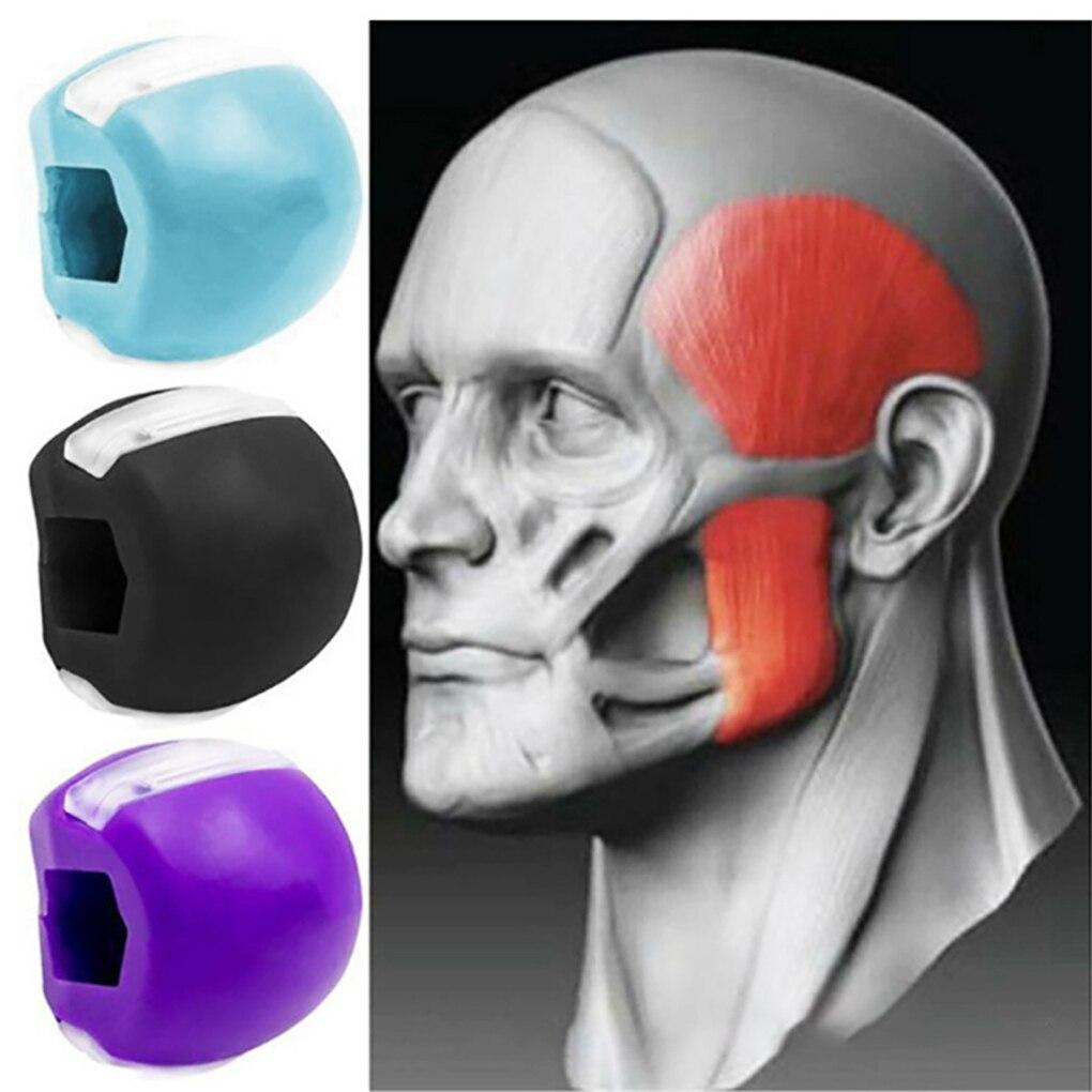 Пищевой силикагель для тренировок по челюсти, жевательный мяч, тренировочный мяч для мышц, фитнес-мяч для шеи, лица, тонизирующий ягодичный ...