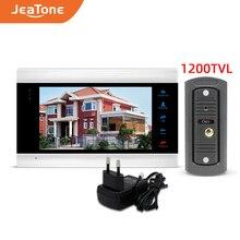 Видеодомофон jeatone устройство связи с дверным звонком монитор