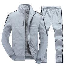 Nouveaux ensembles pour hommes d'hiver Plus velours hommes Sport costumes ensemble de vêtements de Sport Fitness survêtement chaud poche zippée vêtements de Sport pour hommes