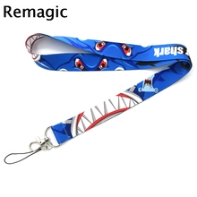 The Meg Shark cartoon anime movie vintage fans 90s Neck Strap Lanyards ID badge card holder keychain Mobile Phone Gifts