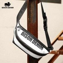 BISON DENIM Genuine Leather Crossbody Bag Fashion Shoulder Strap Chest Pack Waist N20002