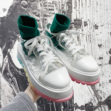 Summer Pvc Women Chunky Sneakers Casual Dad Shoes
