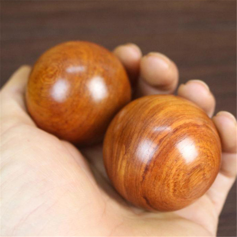 Useful Wood Fitness Ball Practical Massage Handball For Health Exercise Stress Relief Hand Relaxation Stretch Muscle