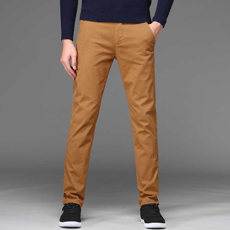 2020 新秋冬メンズパンツ古典ビジネスカジュアルストレッチズボンストリートスリムストレートパンツプラスサイズ 28 から 46