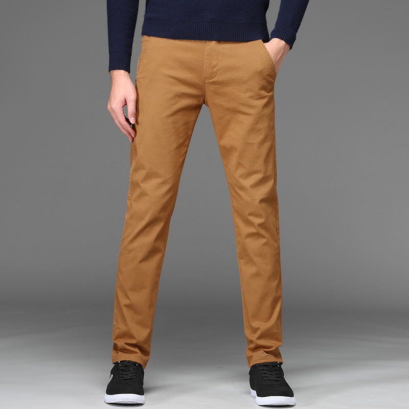 2020 New Autumn Winter Mens Pants Classics Business Casual Stretch Trousers Streetwear Slim Straight Pants Plus Size 28-46