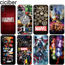 Cicibers Marvel Avengers telefon etui na iphone'a 8 7 6 S Plus 5S SE miękkie TPU na iphone 11 Pro Max X XR XS MAX Iron Man pokrywa(China)