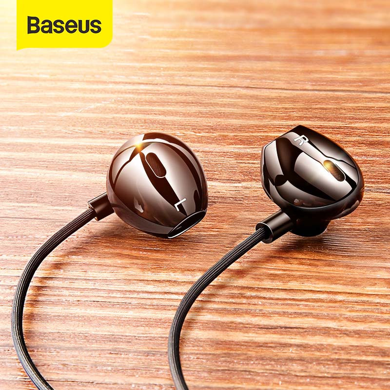 Baseus C06 Wired Earphone Type C Bass Stereo Earbuds with Mic Sport Headset 3.5mm Jack for iPhone Samsung In ear Earphone Wired|Phone Earphones & Headphones|   - AliExpress