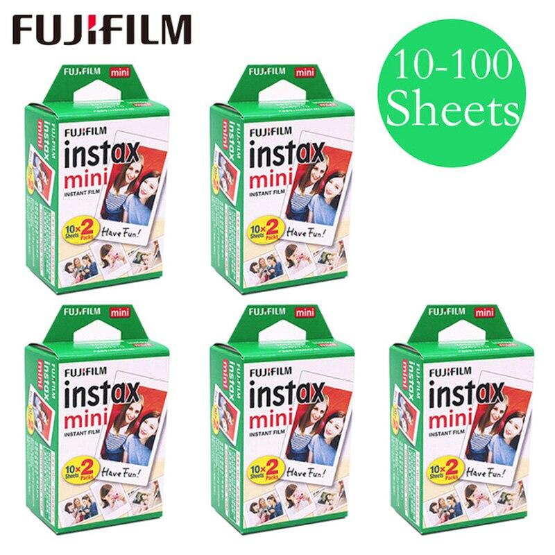Фотобумага для Fujifilm Instax Mini 9 30/40/50/60/70/80/100 листов, белая цветная пленка для Instax, фотобумага для Fujifilm Instax Mini8/9/7s/25/90