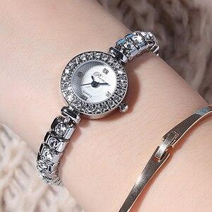 Image 5 - Prema Dames Armband Horloge Vrouwen Luxe Mode Strass Quartz Horloges Kleine Wijzerplaat Roestvrij Stalen Horloge Relogio 2020