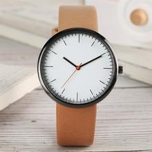 Gradient Color Leather Women Watch Simple Casual Ladies Wristwatch Quartz Movement Elegant Stylish Female Watches Gifts