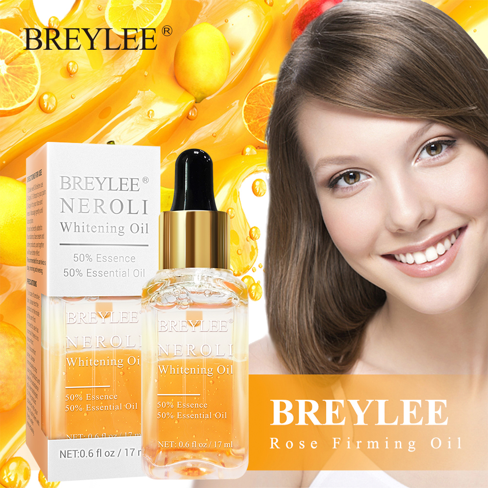 BREYLEE Neroli Whitening Essential Oil Fade Dark Spots Remove Face Freckle Brighten Skin Facial Serum Moisturizer Essence Oil